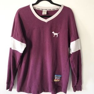 PINK Victorias Secret Long Sleeve Burgundy Sweater